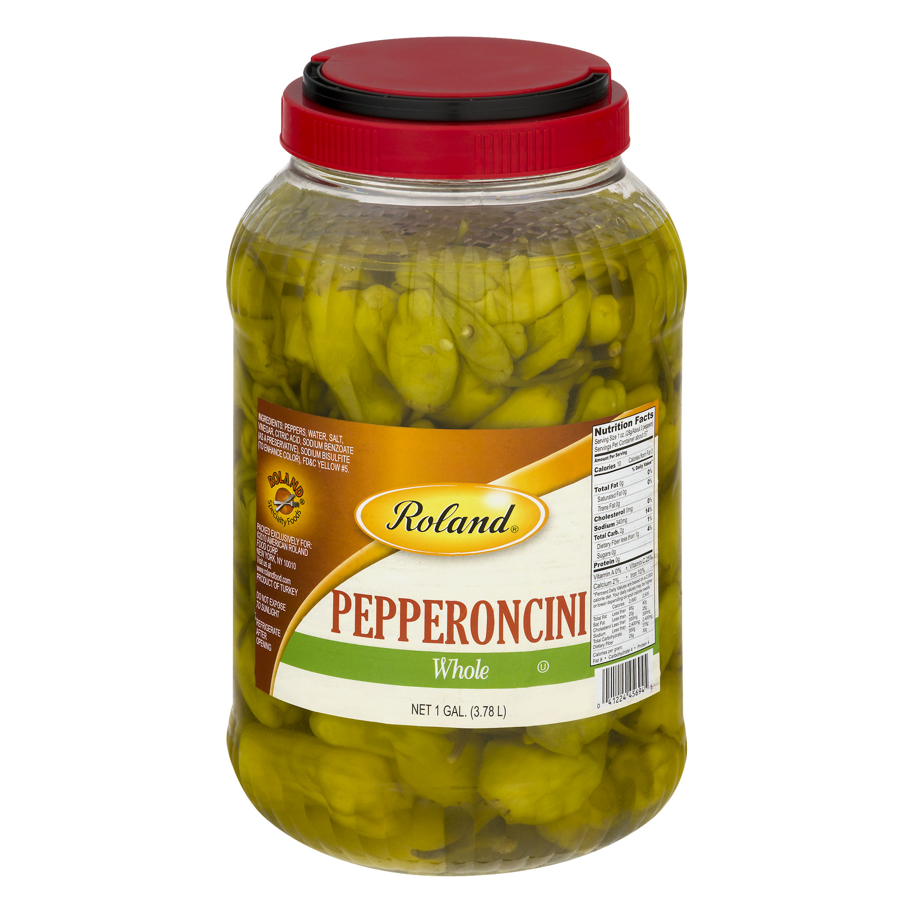 Roland Whole Pepperoncini, 1 Gal