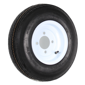 MILLION PARTS 2PCS Tralier Tires /& Rims 4.80-8 480-8 4PR P819 5 Lug Hole Bolt Wheel White