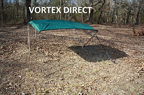 "New GREEN STAINLESS STEEL FRAME VORTEX 4 BOW PONTOON DECK BOAT BIMINI TOP 8' LONG, 67-72"" WIDE (FAST SHIPPING 1 TO... by VORTEX DIRECT"