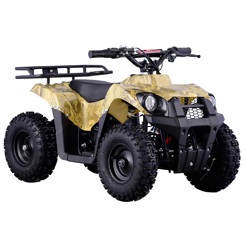 Kids 4-wheeler by FamilyGoKarts Oak Camo 350W Kids Electric ATV