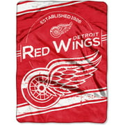 "NHL Detroit Red Wings ""Stamp"" 60"" x 80"" Raschel Throw"