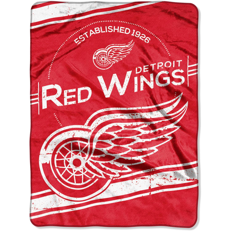 "NHL Detroit Red Wings ""Stamp"" 60"" x 80"" Raschel Throw"