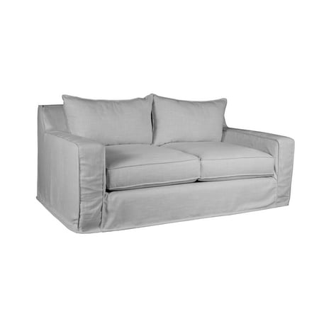 Medium Gray Slate - Plush Deep The William Slipcover Linen Sofa, Grey