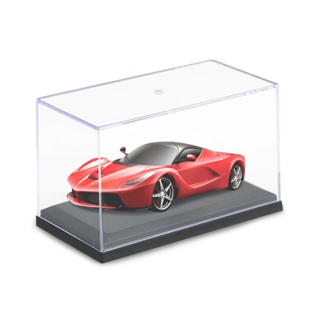Acrylic Display Case for 1:64 Scale Car Black Base for Diecast Model Toy Car