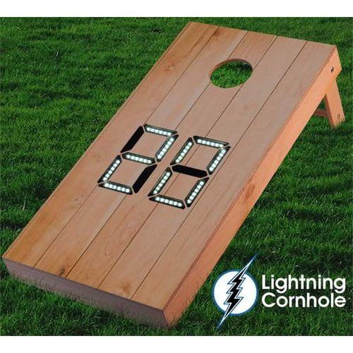 Lightning Cornhole Electronic Scoring Wood Plank Cornhole Board