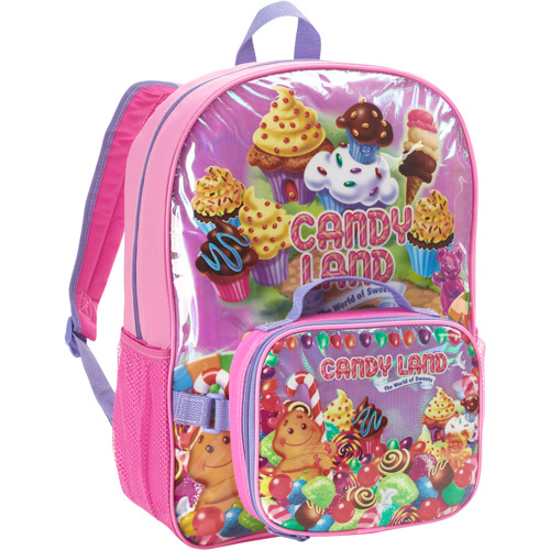 """Candyland 16"""" Backpack With Lunch Kit"""