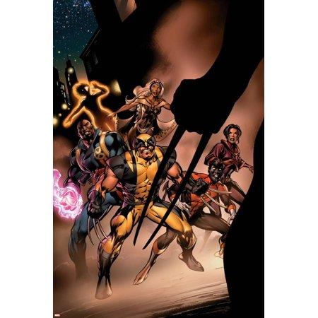 Uncanny X-Men No.450 Cover: Wolverine, Bishop, Nightcrawler, Storm and X-Men Fighting Poster Wall Art By Alan Davis