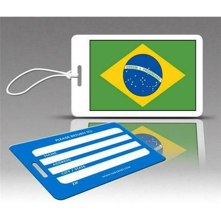 Insight Design 770529 TagCrazy Luggage Tags- Brazil Flag- Set of Three