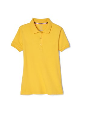 French Toast Girls Plus School Uniform Short Sleeve Stretch Pique Polo Shirt (Plus)