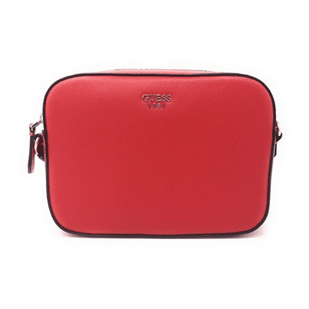 Guess Top Zip Crossbody Bags for Woman , Leather , Red*