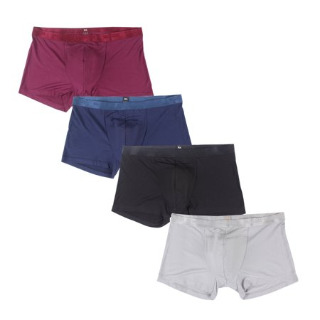 FeelinGirl Men's 4 Pack Underwear Breathable Modal Trunk H-Fly