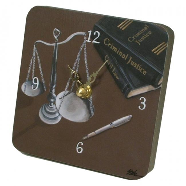 Lexington Studios 23057TT Scales of Justice Tiny Times Clock