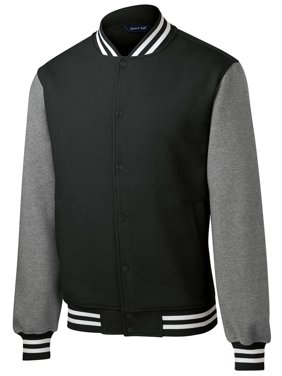 Sport Tek Men's Comfortable Fleece Letterman Jacket