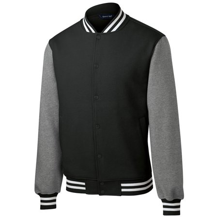 Sport Tek Men's Comfortable Fleece Letterman Jacket](Design Your Own Letterman Jacket)