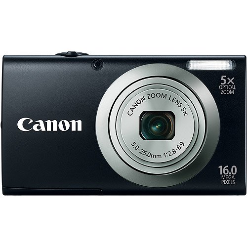 Canon PowerShot A2300 Black 16MP Digital Camera w/ 5x Opt...