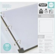 """We R Ring Photo Sleeves, 12"""" x 12"""", 50pk, Full Page"""