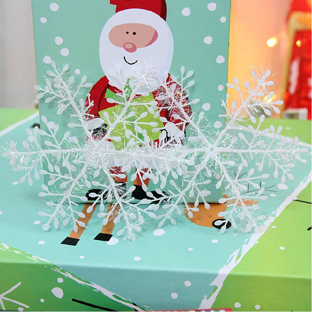 30pcs 11cm Christmas Snowflakes Hanging Ornament Decoration Drop Pendants