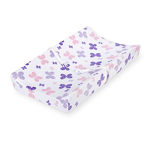 Koala Baby Essentials Plush Changing Pad Cover, Pink and Purple Butterflies