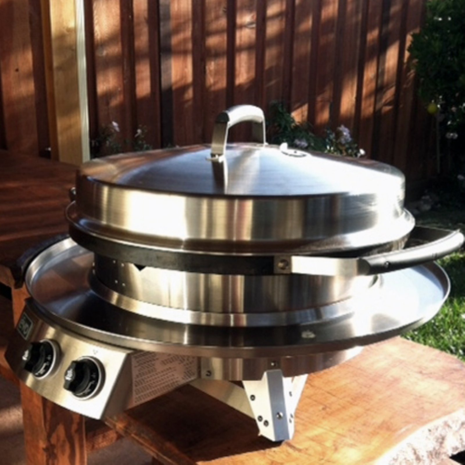 Evo Professional Circular Flattop Tabletop Gas Grill with Optional Ceramic Coating Upgrade