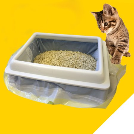 1 Bag of (7PCS) Cat Litter Bag Kitten Hygienic Litter Box Liners Pet Supplies (Large) (Cat Box Bag)