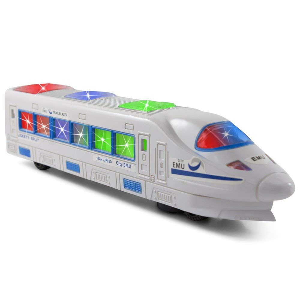 TECHEGE Toys Electric Train for Toddlers Boys Fun Gift with Flash Light, Music, Moves