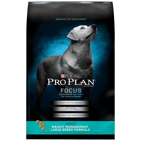 Purina Pro Plan FOCUS Weight Management Large Breed Formula Adult Dry Dog Food - 34 lb. Bag