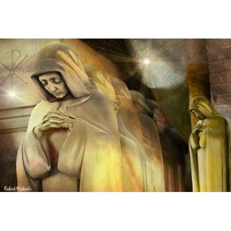 Stone Prayers Canvas Art - Robert Michaels (16 x 11)