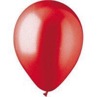 Pioneer Solid Latex 70058 12 in. Metallic Red Latex Balloon