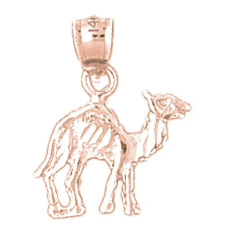 14K Rose Gold Camel Pendant - 18