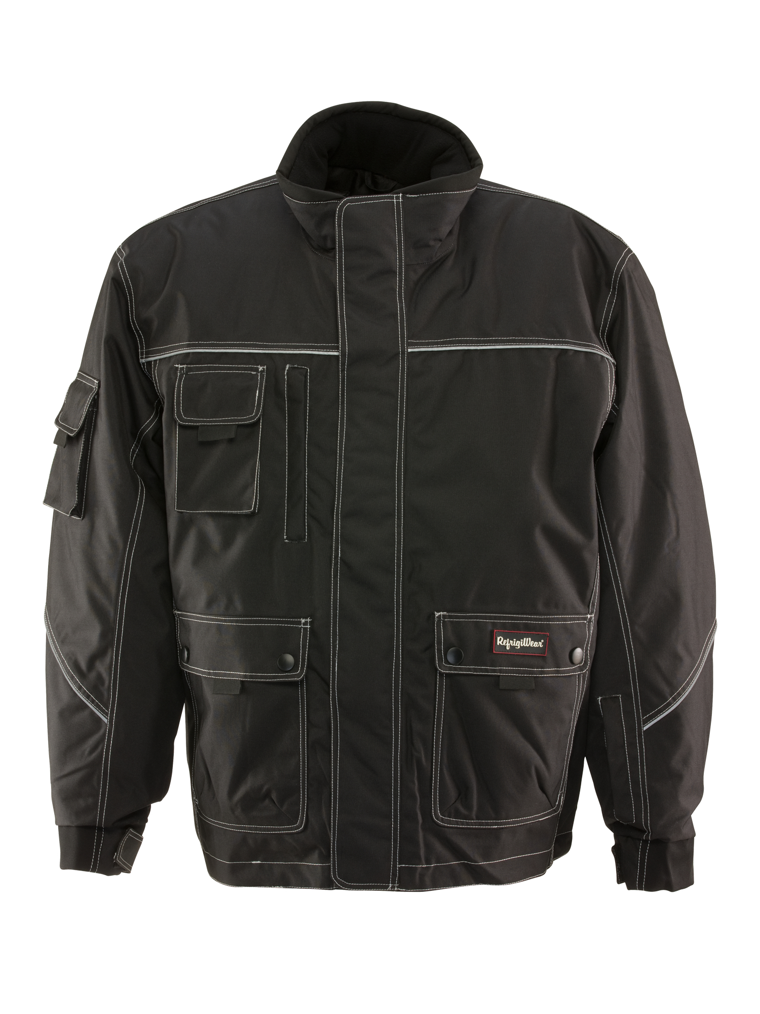 RefrigiWear Men's Waterproof ErgoForce Insulated Jacket with Reflective Piping