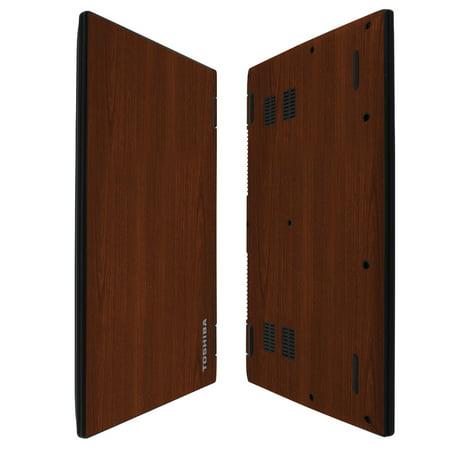 Skinomi TechSkin - Dark Wood Skin & Screen Protector for Toshiba Satellite Radius 14