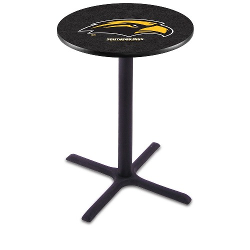 NCAA Pub Table by Holland Bar Stool, Black - University of Southern Mississippi, 36'' - L211