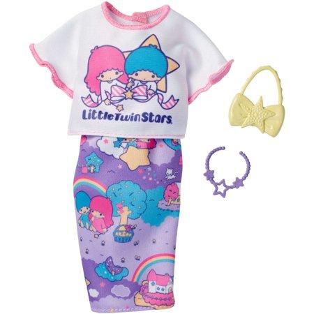 Barbie Hello Kitty Twin Stars Purple Pencil Skirt