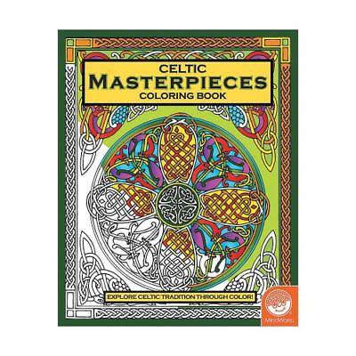 IN-13740984 MindWare Celtic Masterpieces Adult Coloring Book 2PK