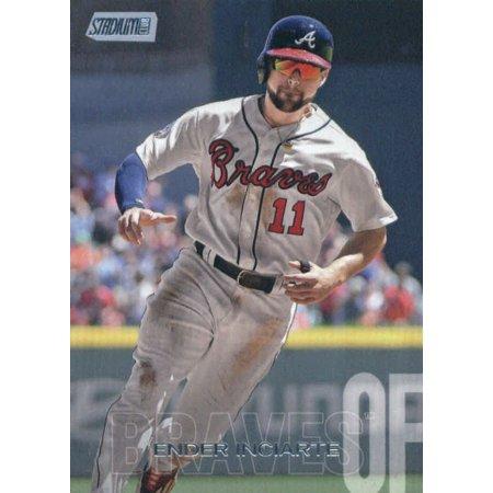 2018 Topps Stadium Club #64 Ender Inciarte Atlanta Braves Baseball Card - (Atlanta Baseball Stadium)