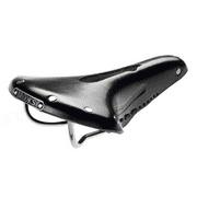 Brooks Team Pro Imperial Leather Road Bike Saddle Black w/ Chrome Rails & Rivets