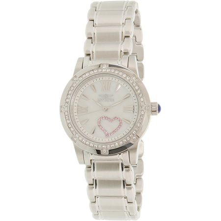 Mother Of Pearl Silver Wrist Watch - Invicta 18604 Angel Mother of Pearl Dial Stainless Steel Ladies Watch