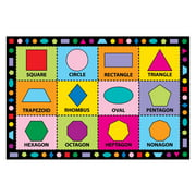 Fun Rugs Shapes Kids' Rug, Multi-Color