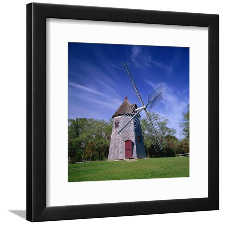 Oldest Windmill on Cape Cod, Dating from 1680, at Eastham, Massachusetts, New England, USA Framed Print Wall Art By Roy Rainford Cape Cod Wind