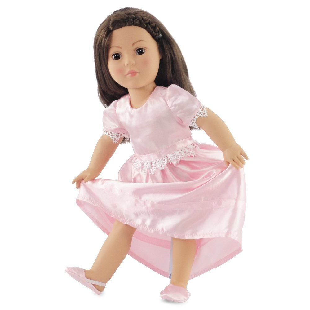 "18"" Doll Clothes Pretty Nightgown Fits American Girl Includes 18"" Slippers by Emily Rose Doll Clothes"
