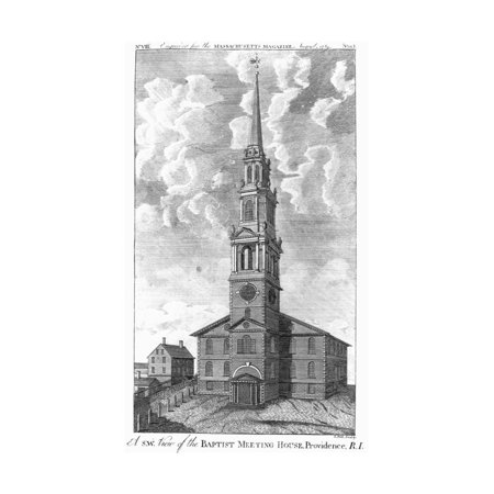 Baptist Meeting House in Providence, Rhode Island Print Wall Art - Halloween In Rhode Island
