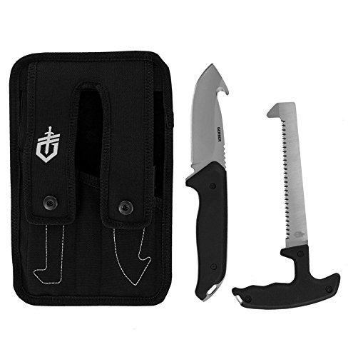 Gerber 31-002680 Moment Field Dress Kit II, Fixed Blade Gut Hook Knife and Saw, Includes Sheath G2680