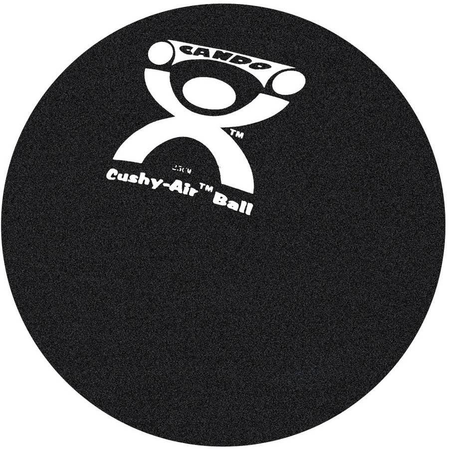 """CanDo 10"""" Cushy-Air Inflatable Ball, Black"""