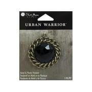 BMB Urban Warrior Pendant Mtl/Pls Chain Blk/Ox Brs
