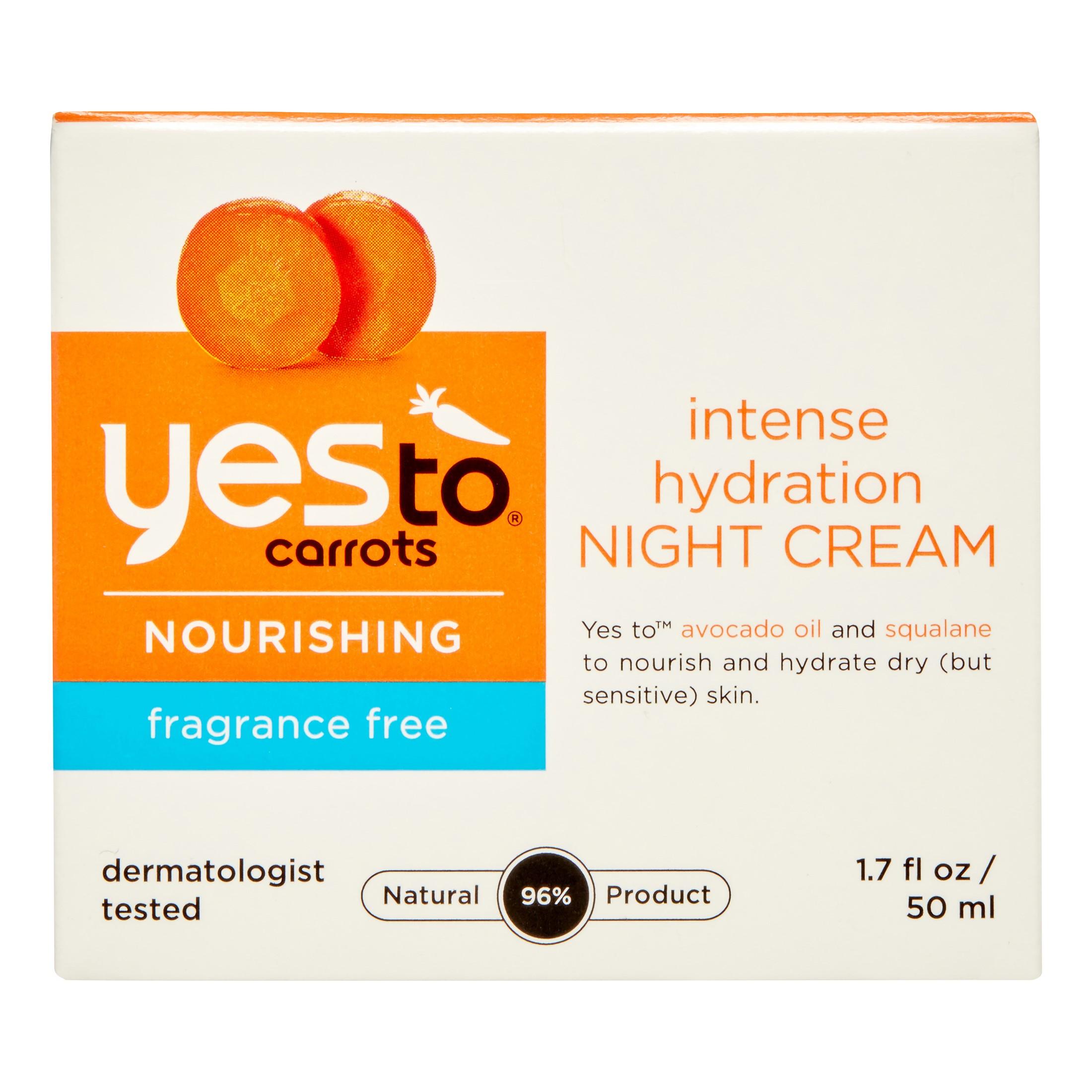 Yes To Carrots Nourishing Intense Hydration Night Cream, 1.7 Fl Oz