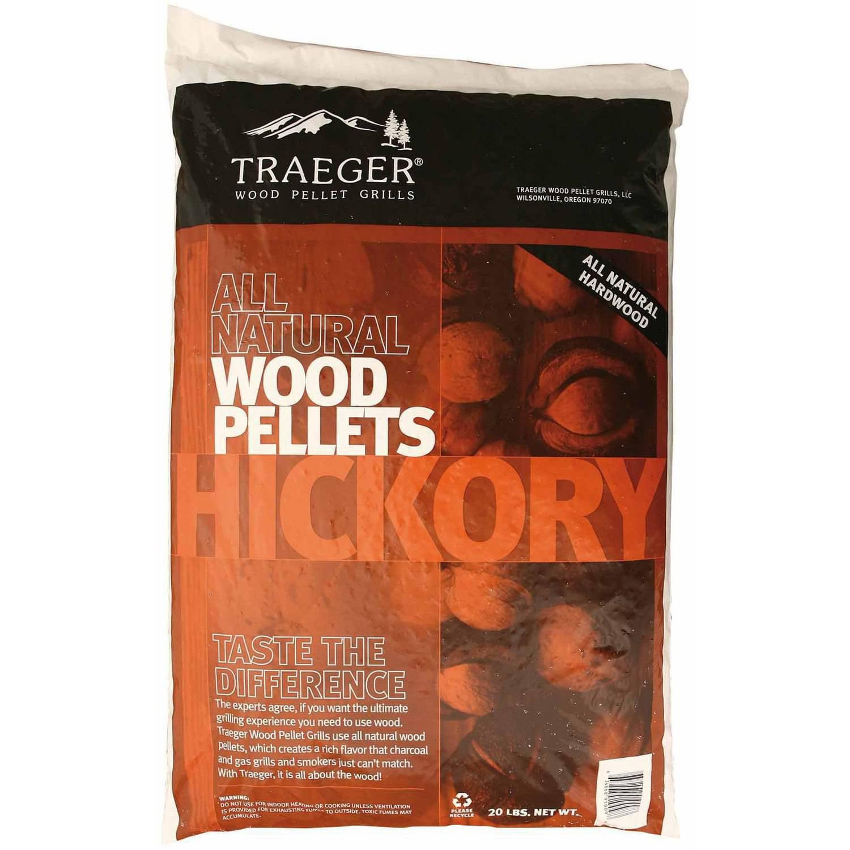Traeger Bbq Pellets Hickory, 20 lb