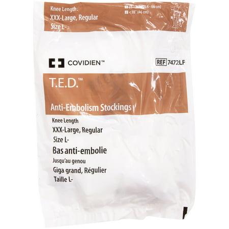Ten Anti Embolism Stockings - Knee High - XXX (Xxx Large Model)
