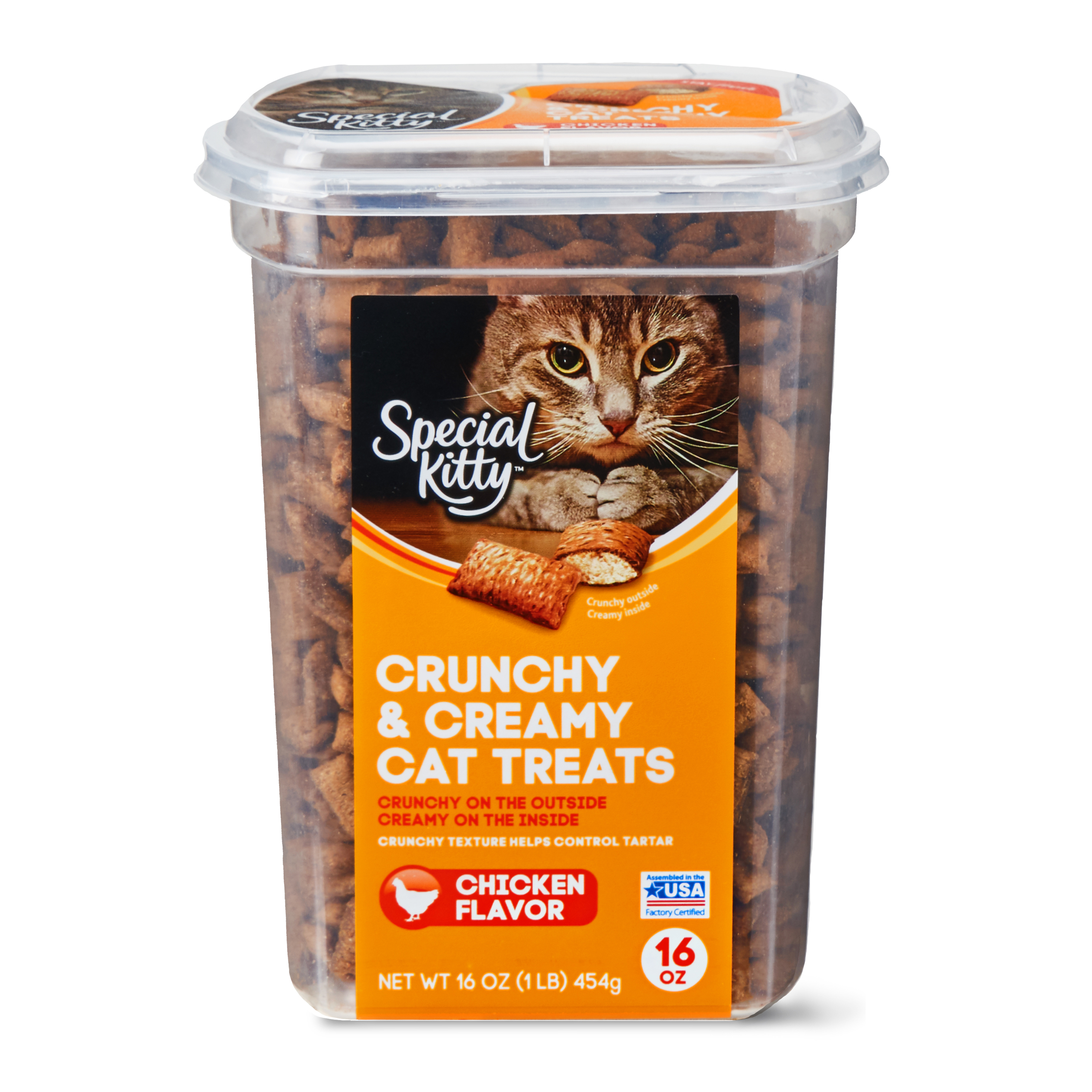 Special Kitty Crunchy & Creamy Cat Treats, Chicken Flavor, 16 oz
