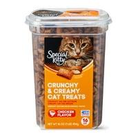 Special Kitty Crunchy & Creamy Cat Treats, Chicken Flavor, 16 oz