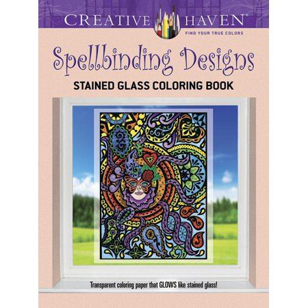 Creative Haven Coloring Books: Creative Haven Spellbinding Designs Stained Glass Coloring Book (Paperback)](Stained Glass Coloring Pages)